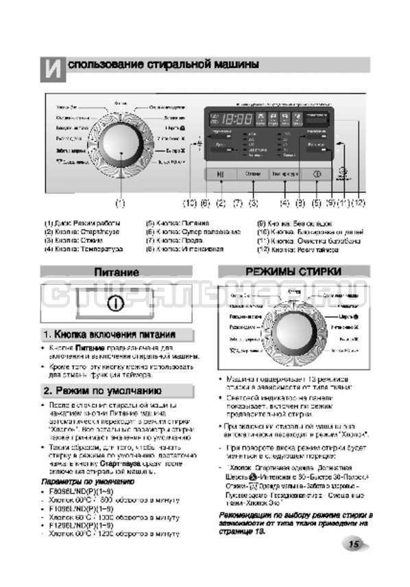 Инструкция LG F80B8MD страница №16