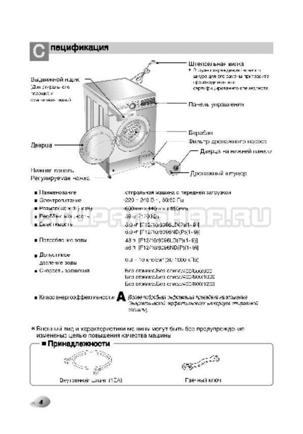 Инструкция LG F80B8MD страница №5