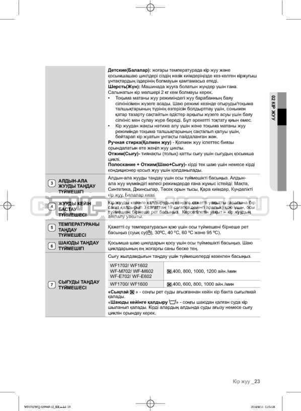 Инструкция Samsung Fuzzy Logic WF-E602YQR страница №111
