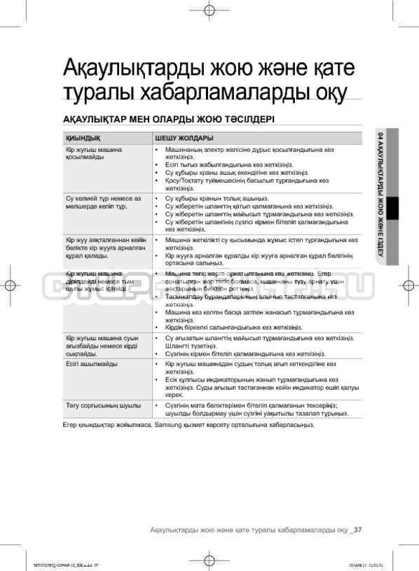 Инструкция Samsung Fuzzy Logic WF-E602YQR страница №125