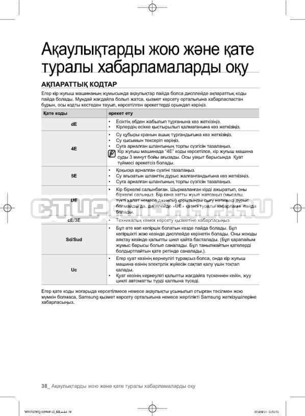 Инструкция Samsung Fuzzy Logic WF-E602YQR страница №126