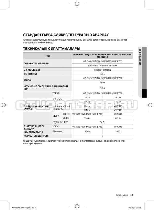 Инструкция Samsung Fuzzy Logic WF-E602YQR страница №129