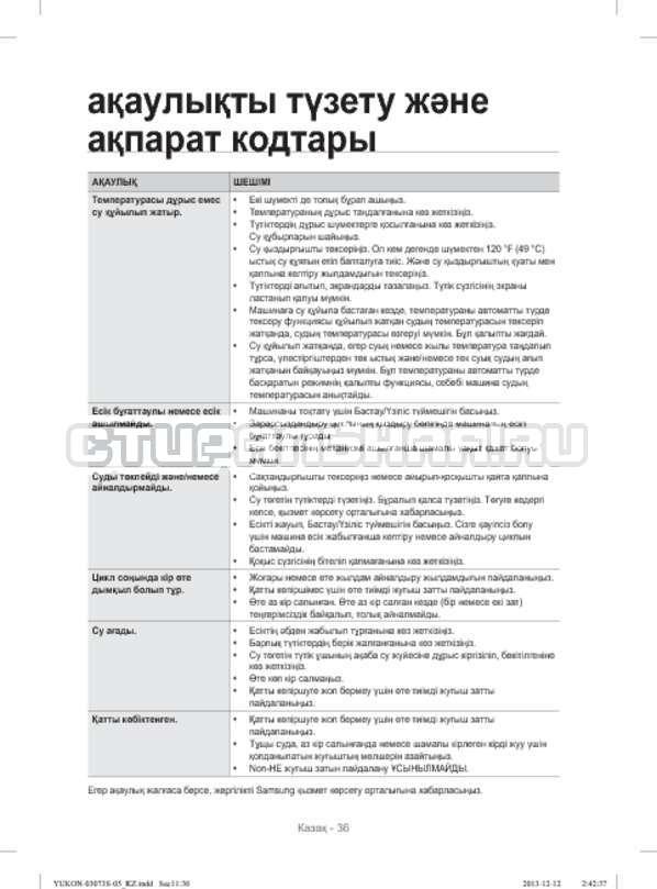 Инструкция Samsung WD1142XVR страница №124