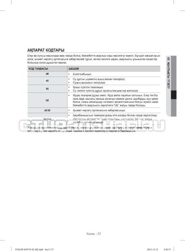 Инструкция Samsung WD1142XVR страница №125