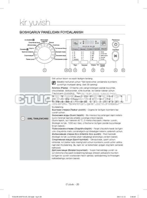 Инструкция Samsung WD1142XVR страница №152