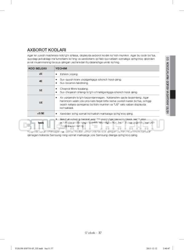Инструкция Samsung WD1142XVR страница №169