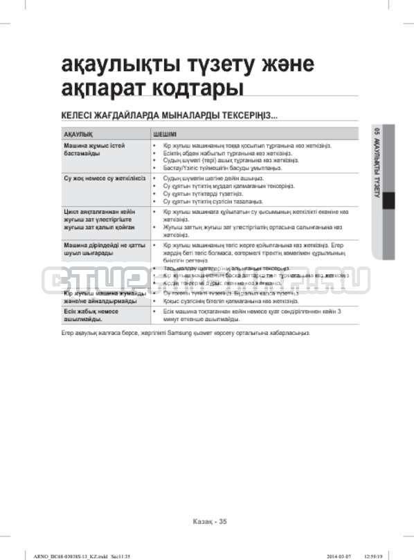 Инструкция Samsung WF-M124ZAU страница №127