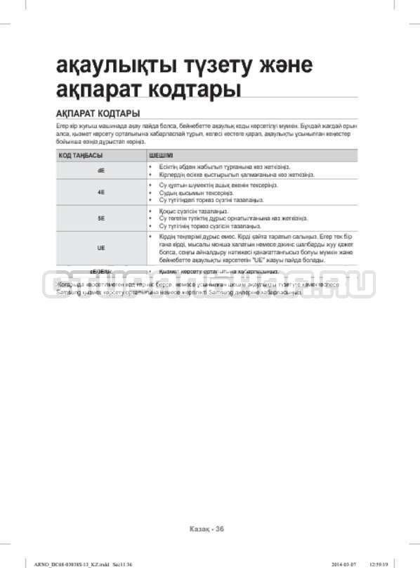 Инструкция Samsung WF-M124ZAU страница №128