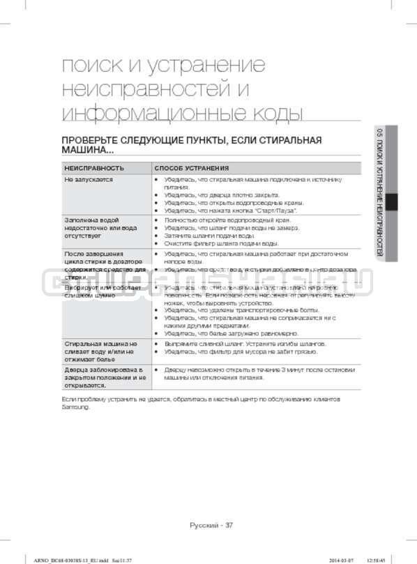 Инструкция Samsung WF-M124ZAU страница №37