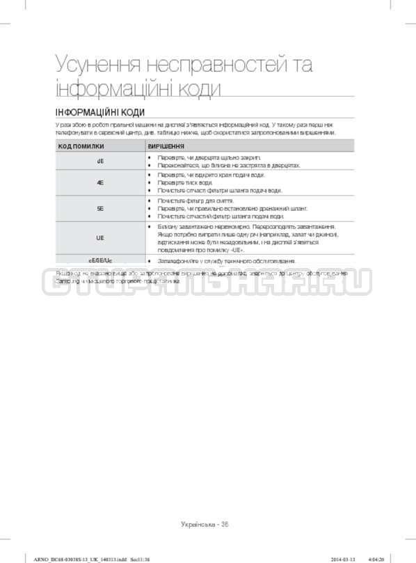 Инструкция Samsung WF-M124ZAU страница №84