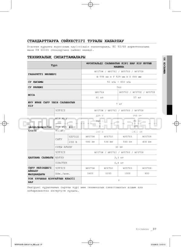Инструкция Samsung WF0700NCW страница №117