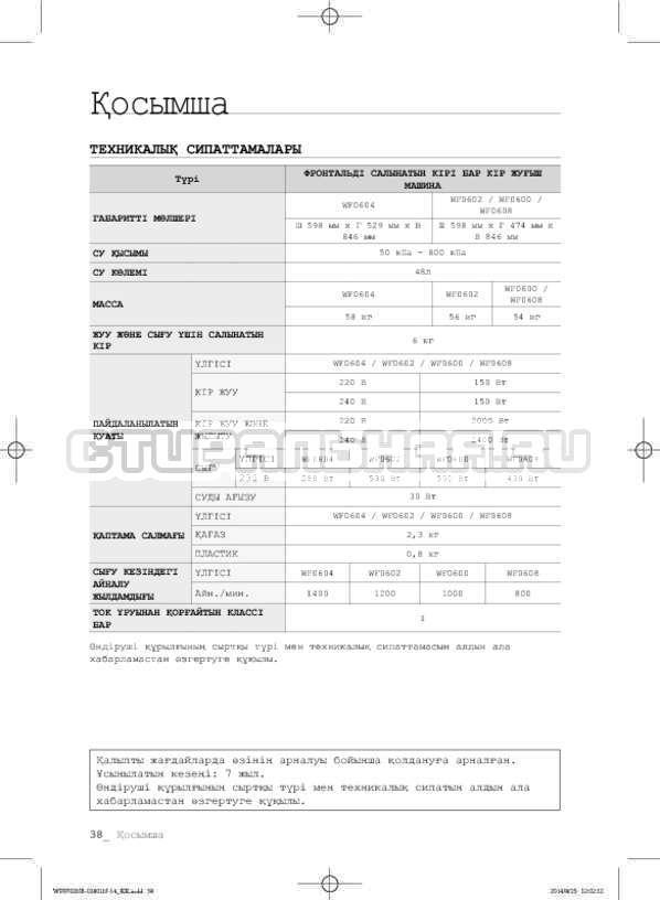 Инструкция Samsung WF0700NCW страница №118