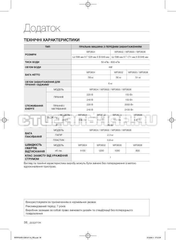Инструкция Samsung WF0700NCW страница №78