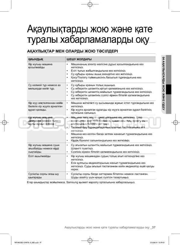 Инструкция Samsung WF1802XEC страница №125