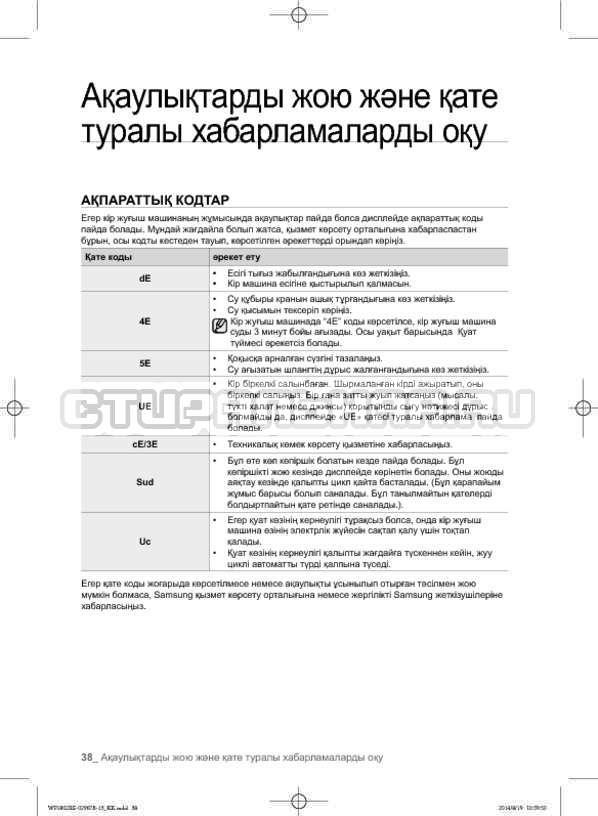 Инструкция Samsung WF1802XEC страница №126