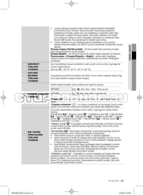 Инструкция Samsung WF1802XEC страница №155