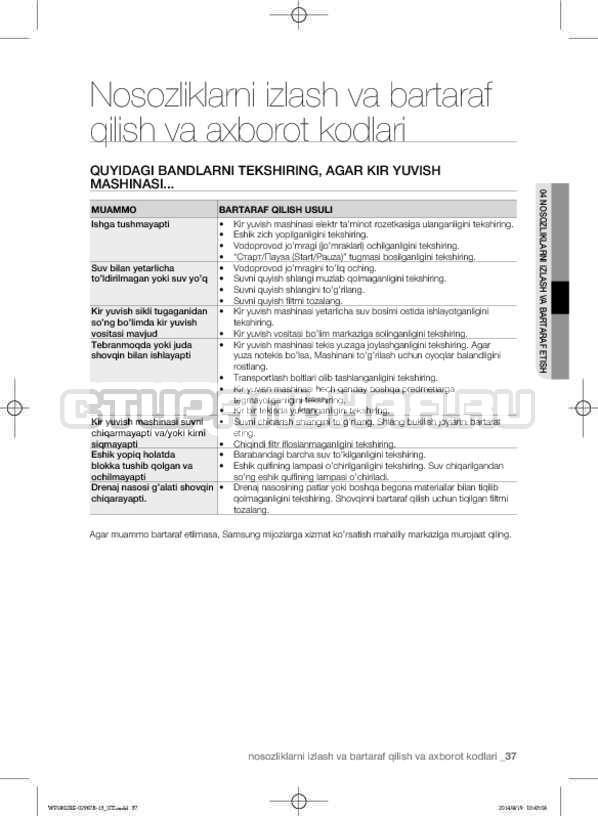 Инструкция Samsung WF1802XEC страница №169