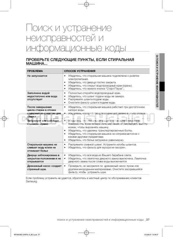Инструкция Samsung WF1802XEC страница №37
