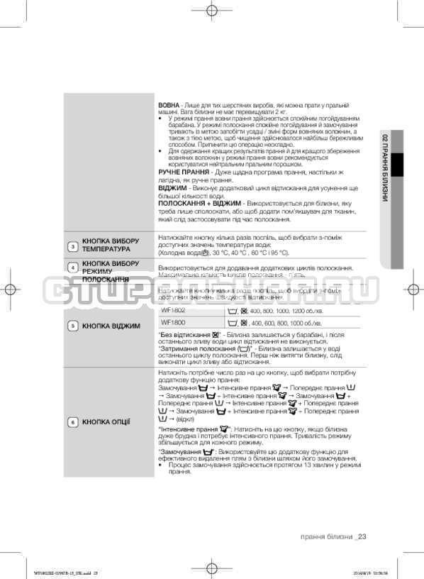 Инструкция Samsung WF1802XEC страница №67