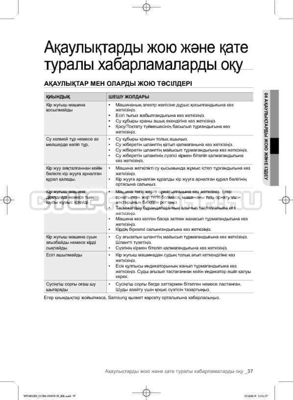Инструкция Samsung WF1802XFK страница №125