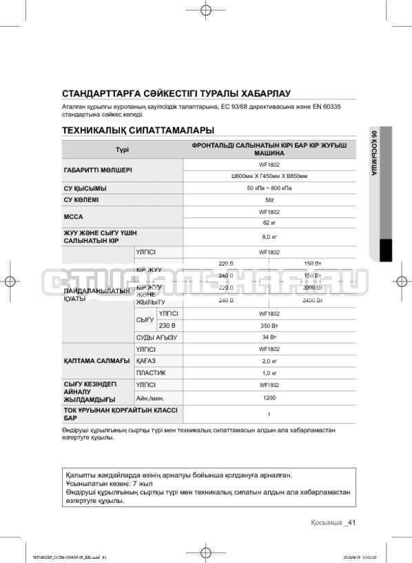 Инструкция Samsung WF1802XFK страница №129