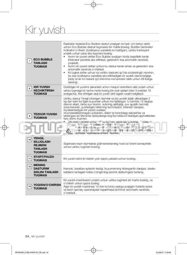Инструкция Samsung WF1802XFK страница №156
