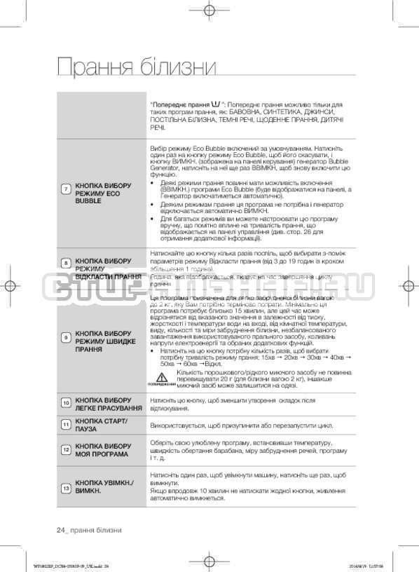 Инструкция Samsung WF1802XFK страница №68