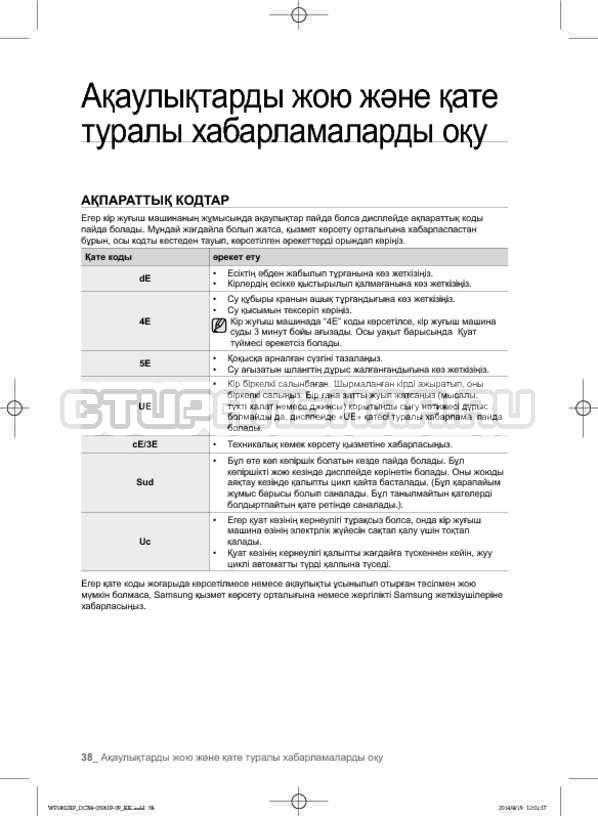 Инструкция Samsung WF1802XFW страница №126
