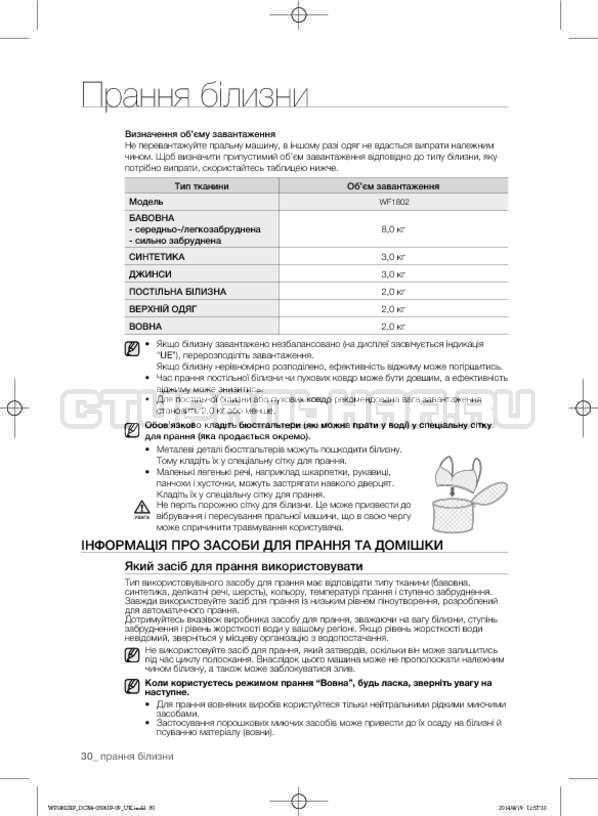 Инструкция Samsung WF1802XFW страница №74
