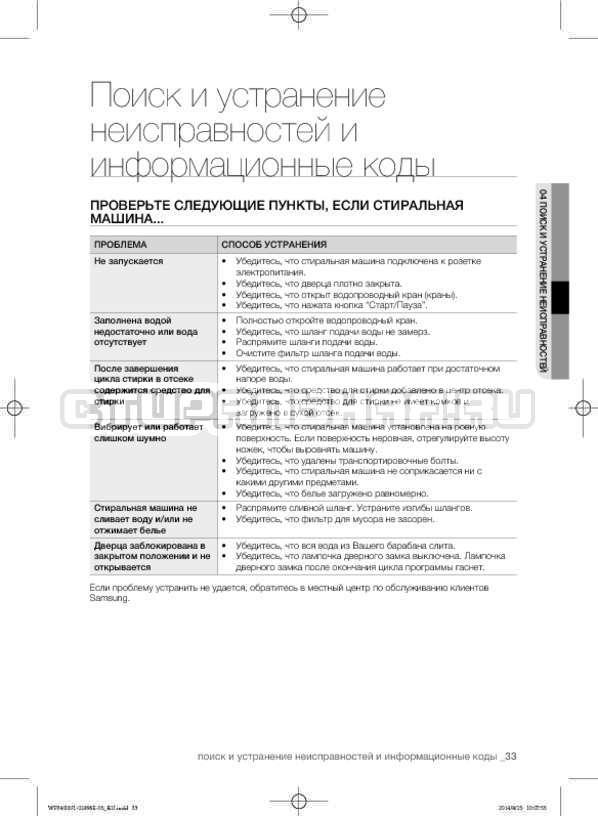 Инструкция Samsung WF3400N1V страница №33