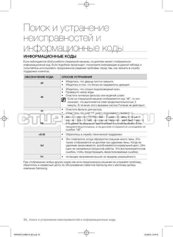 Инструкция Samsung WF3400N1V страница №34