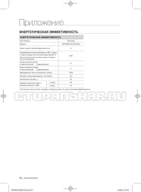 Инструкция Samsung WF3400N1V страница №38