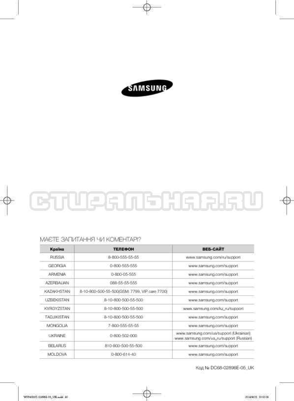 Инструкция Samsung WF3400N1V страница №80