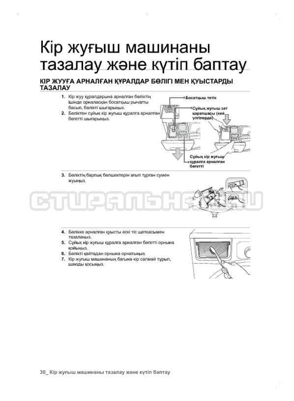 Инструкция Samsung WF600B0BCWQ страница №110