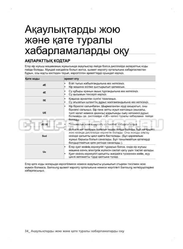 Инструкция Samsung WF600B0BCWQ страница №114