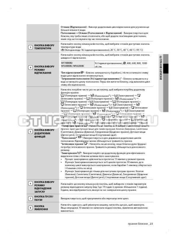 Инструкция Samsung WF600B0BCWQ страница №63