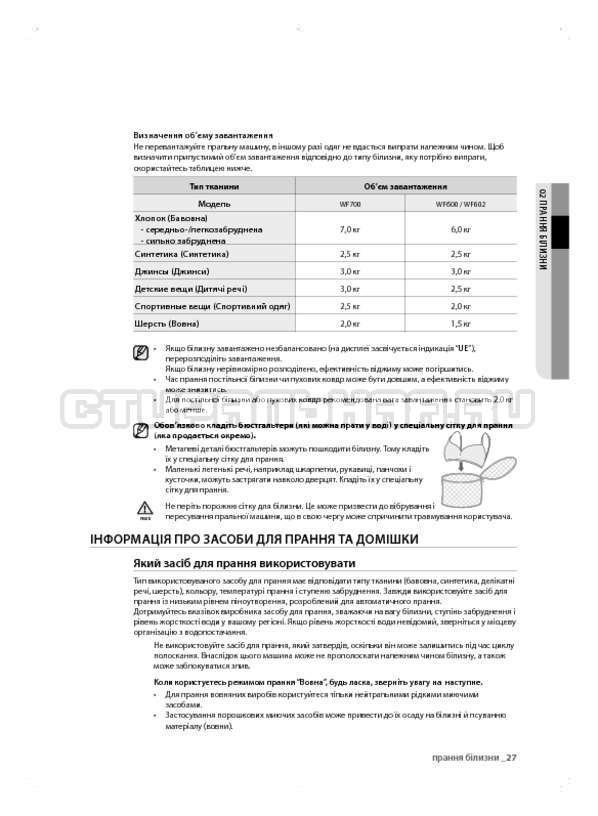 Инструкция Samsung WF600B0BCWQ страница №67