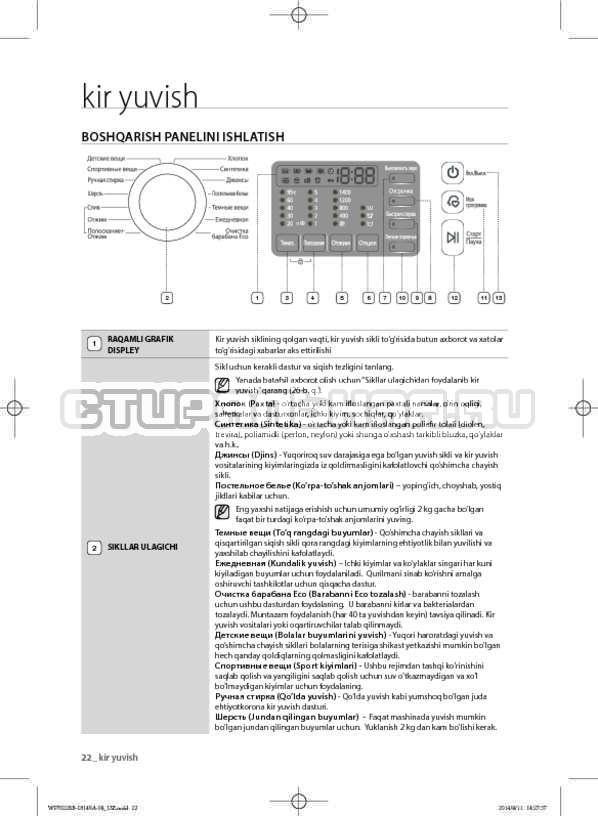 Инструкция Samsung WF602B2BKWQ страница №154