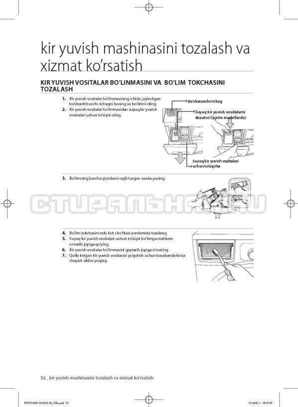 Инструкция Samsung WF602B2BKWQ страница №164