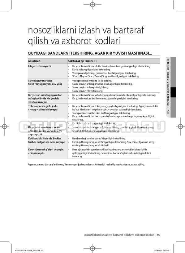 Инструкция Samsung WF602B2BKWQ страница №167