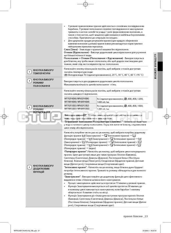 Инструкция Samsung WF602B2BKWQ страница №67