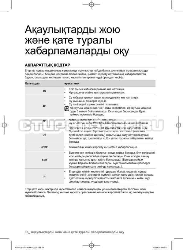 Инструкция Samsung WF602U0BCSD страница №120
