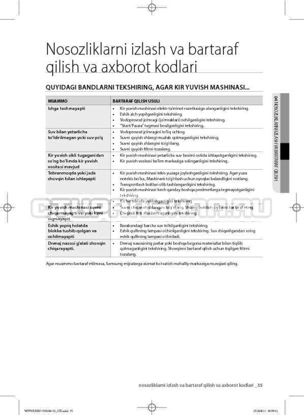 Инструкция Samsung WF602U0BCSD страница №161