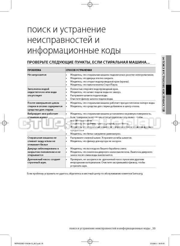 Инструкция Samsung WF602U0BCSD страница №35