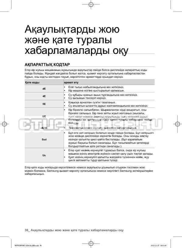 Инструкция Samsung WF602W0BCWQ страница №120