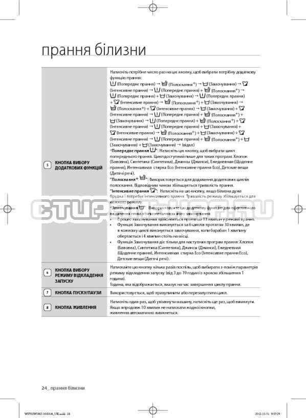Инструкция Samsung WF602W0BCWQ страница №66