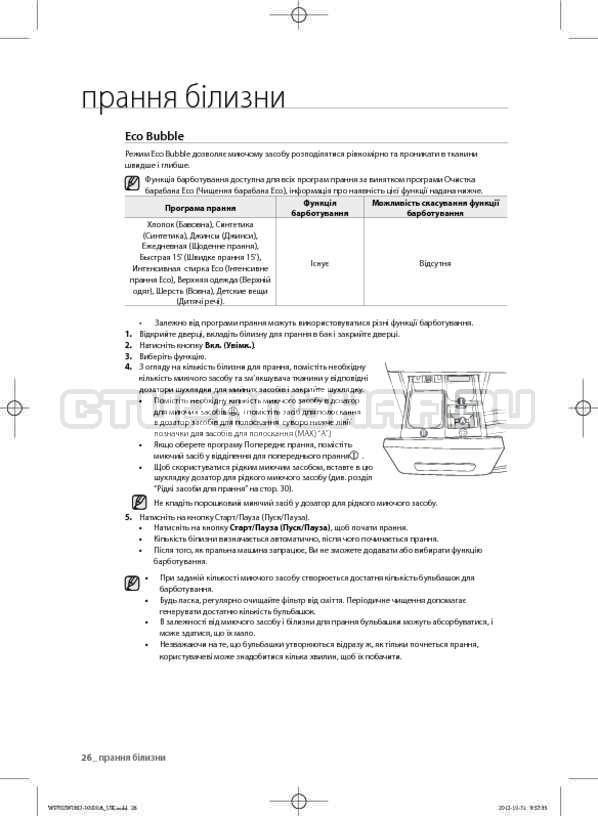 Инструкция Samsung WF602W0BCWQ страница №68