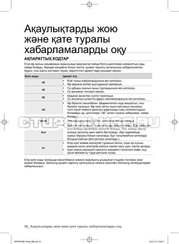 Инструкция Samsung WF602W2BKWQ страница №126