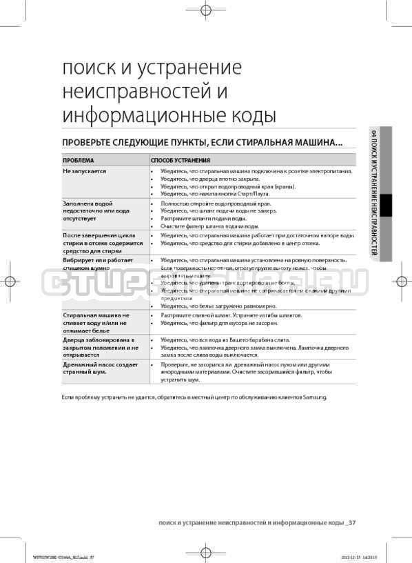 Инструкция Samsung WF602W2BKWQ страница №37
