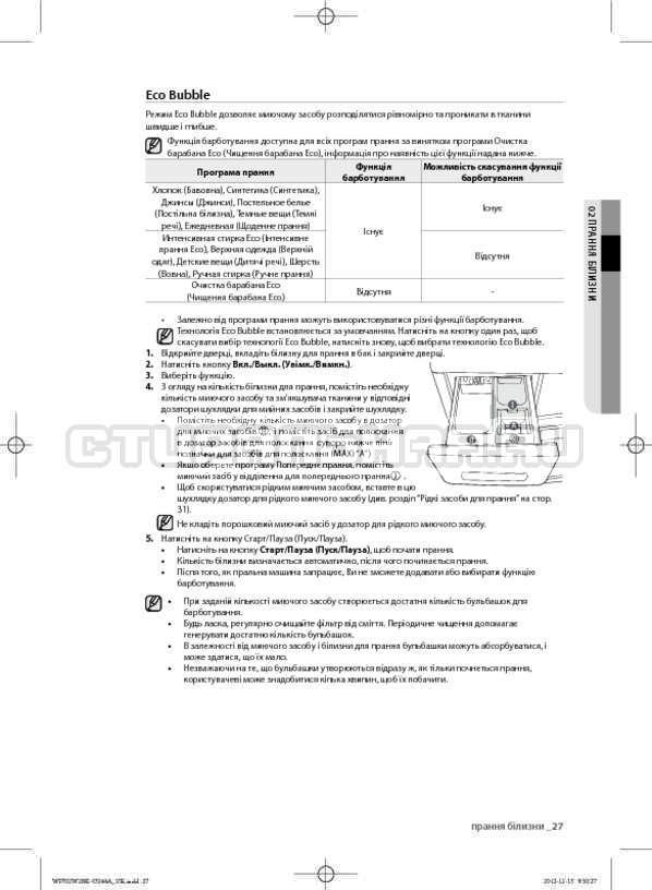 Инструкция Samsung WF602W2BKWQ страница №71